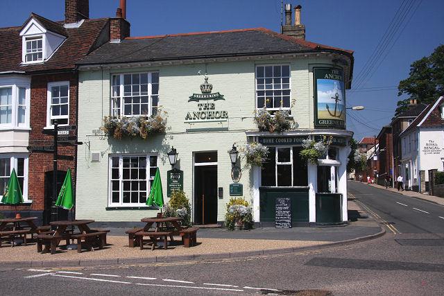 The Anchor pub, Woodbridge