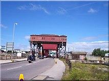 SJ3290 : Lift bridge over entrance to East Float by Raymond Knapman