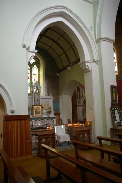 Lady Chapel with votive candles