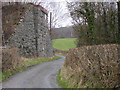 SN9581 : Abutments of Mid Wales Railway bridge by Nigel Brown