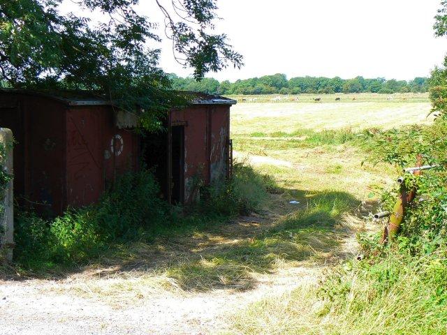 Hut by field entrance