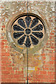 NT5943 : The rose window at Legerwood Parish Church by Walter Baxter