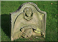 NT5943 : An old gravestone in Legerwood Churchyard by Walter Baxter