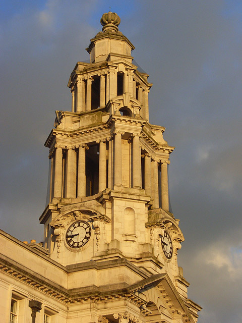 Clock tower, Stockport Town Hall