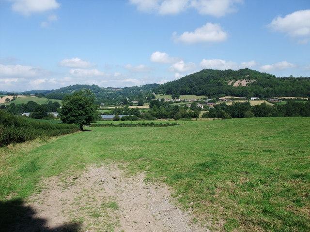 View towards Porth-y-waen