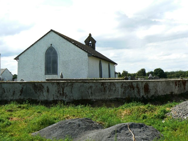 Cemetery wall and church