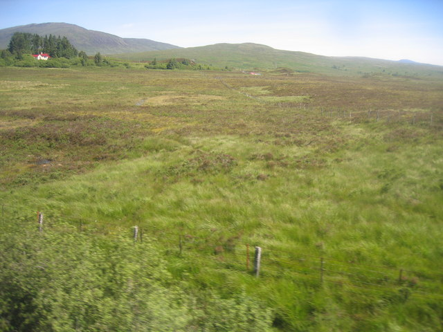 Approaching Rannoch Station from the south