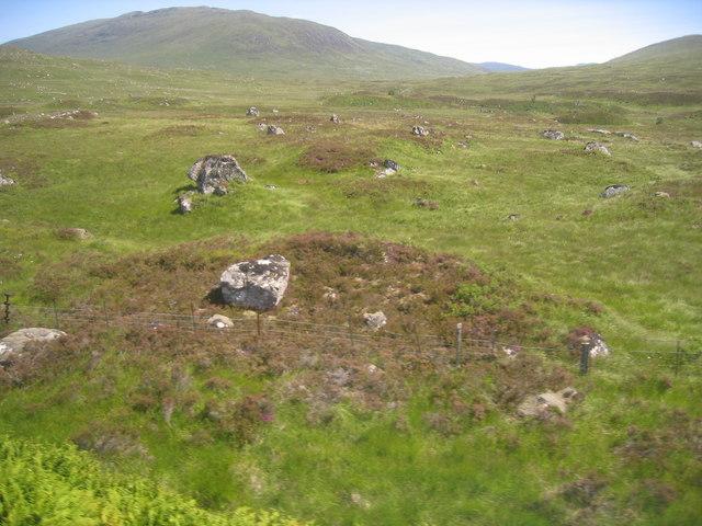 Looking across the moor towards Beinn Pharlagan