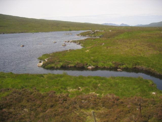 Lochan a' Chlaidheimh from the train