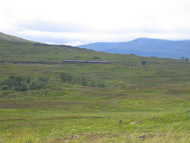 Fort William train after leaving Rannoch