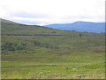 NN4259 : Fort William train after leaving Rannoch by Pip Rolls