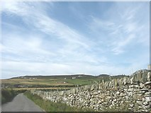 SH2181 : View north across the valley towards the slopes of Holyhead Mountain by Eric Jones