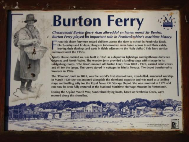 Information panel at Burton Ferry