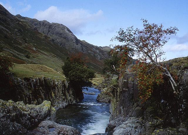Swan Dub on the Langstrath Beck