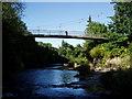 SO1091 : River Severn, Dolerw footbridge by kevin skidmore