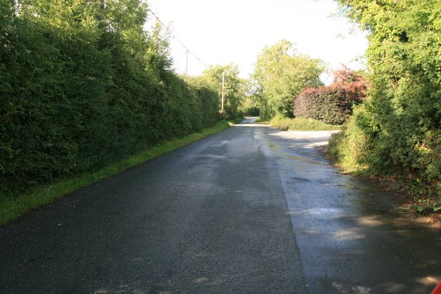 View south, towards R129, from outside Tully Nurseries.