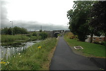 N9337 : Towpath on north bank of the Royal Canal at Maynooth by Roger Butler