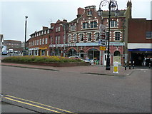 TQ7407 : Shops, Station Road/Town Hall Square, Bexhill on Sea by David Jarrett