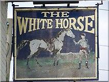 SU1131 : Sign for the White Horse, Quidhampton by Maigheach-gheal