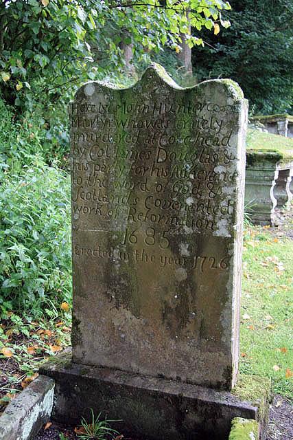 The martyr's grave at Tweedsmuir Kirkyard
