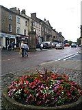 NU1813 : Market Street Alnwick after the rain by Steve  Fareham