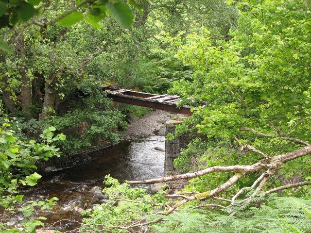 Ruinous footbridge