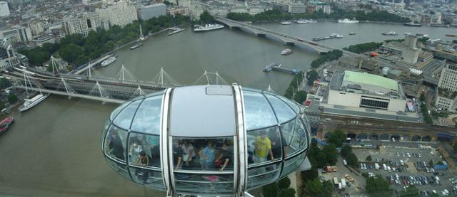 Nearing the top of the London Eye