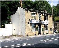 SE0724 : The George - Rochdale Road by Betty Longbottom