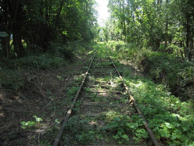 Disused Railway west of Porth-y-waen