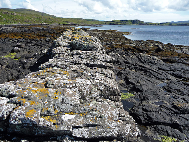 Dyke on the east coast of Loch Dunvegan