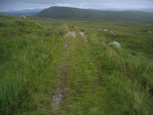 The flank of Sròn Leachd a' Chaorain with Sròn Smeur on the horizon