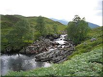 NN2868 : Falls on Abhainn Rath near Staoineag by Pip Rolls