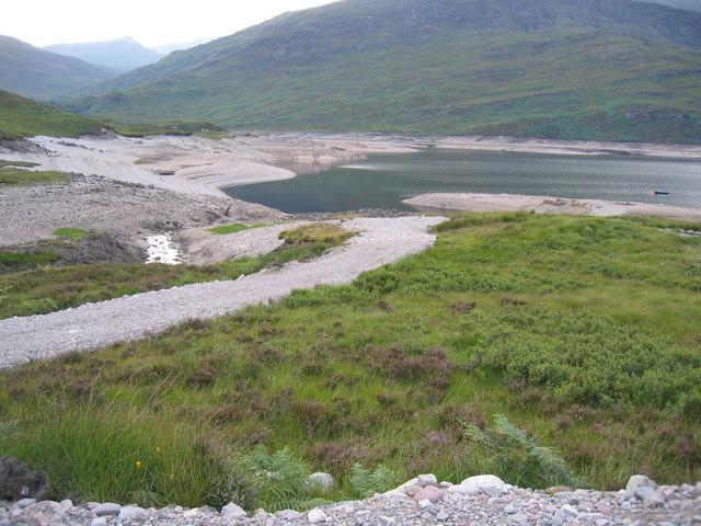 A new track to Loch Treigside beside Allt Fèith Chiarain