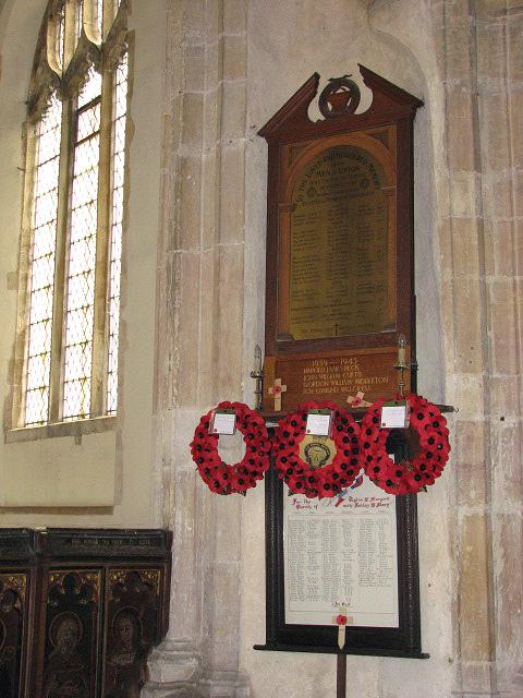 St Margaret's church - war memorial