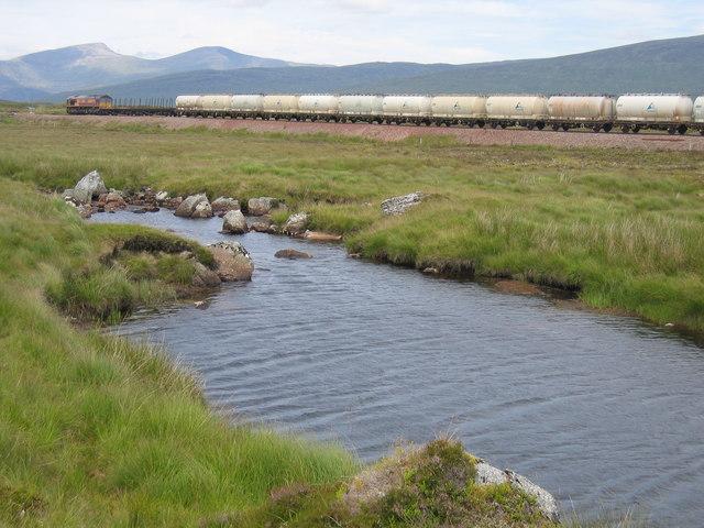 An aluminium company train bound for Fort William