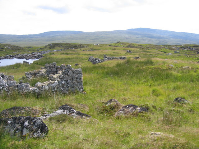 The ruins of Caim looking towards the Black Corries