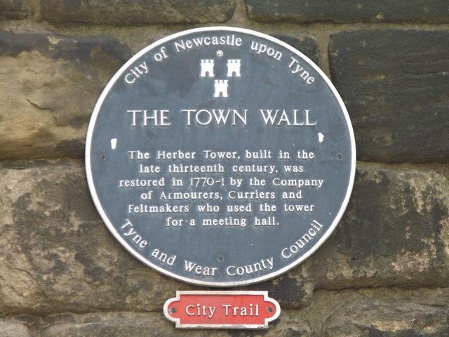 Plaque re the Herber Tower