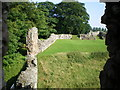 NT9047 : The outer defences at Norham Castle by Richard Law