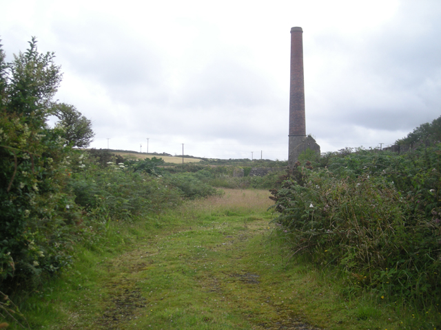 Chimney in a field