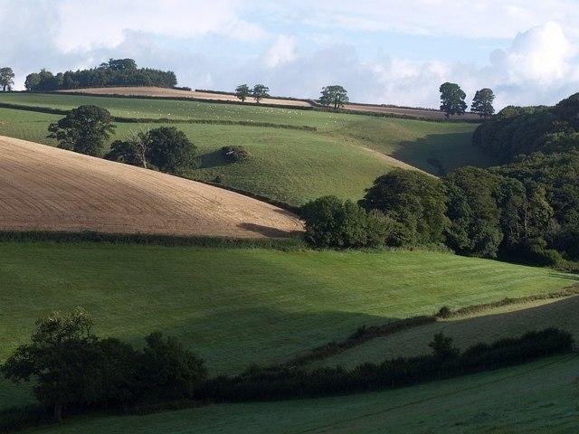 Valley below Glazegate Lane