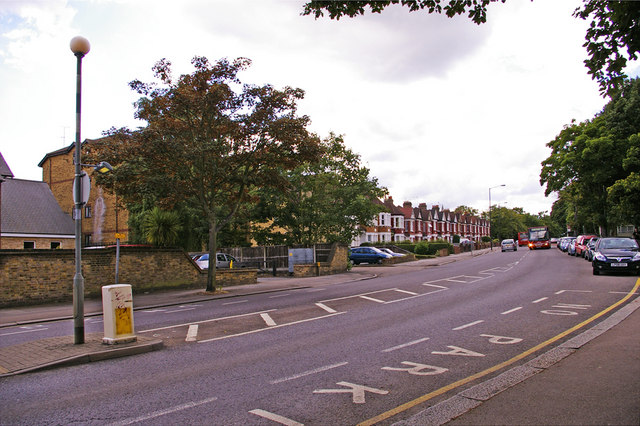 Bowes Road, New Southgate, London N11, looking west  (A1110)