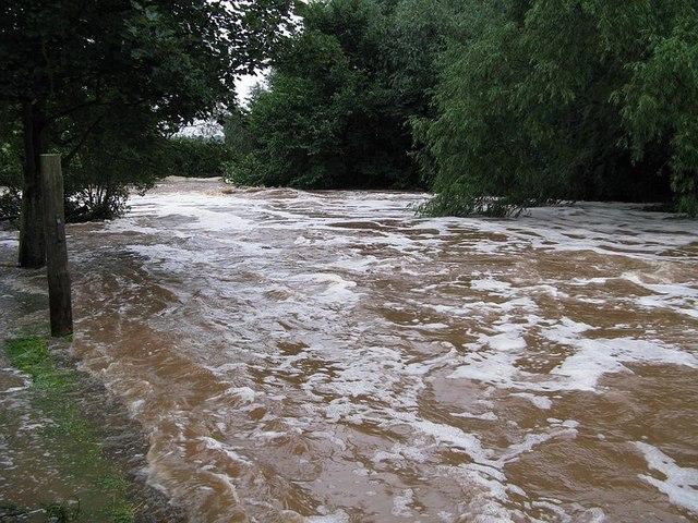 The River Tyne flooding