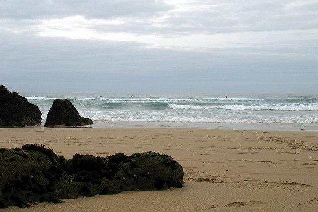 Surfing at Coumeenoole beach