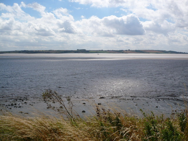 View over Redcliff Sand at high tide