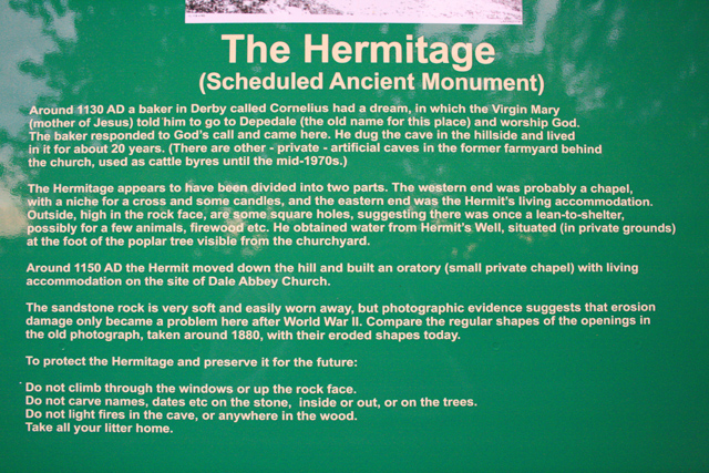 The Hermitage, Information Board