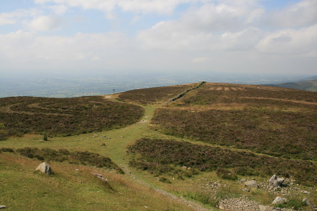 Offa's Dyke Path from Moel Famau