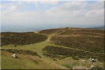 SJ1662 : Offa's Dyke Path from Moel Famau by Jeff Buck