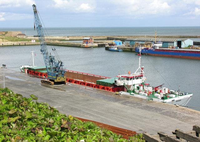 Seaham Harbour inner quay