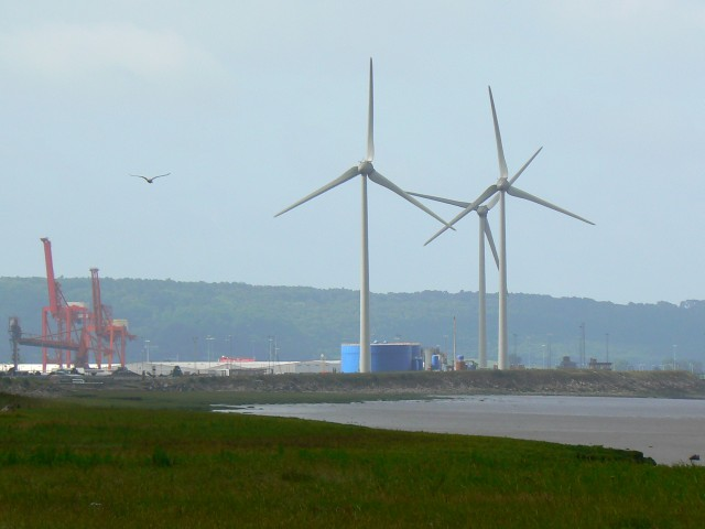 Wind turbines, Avonmouth Docks