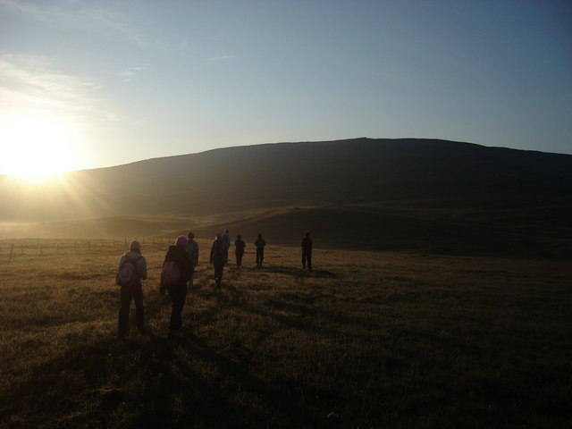 Sunrising over Whernside